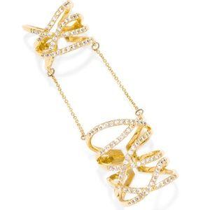 BaubleBar Gold Pave Ring